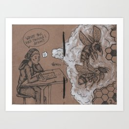 The Art of Daydreaming 2 Art Print
