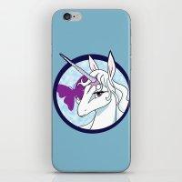 the last unicorn iPhone & iPod Skins featuring Last Unicorn by AriesNamarie