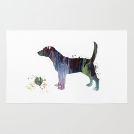 Beagle Art Rug