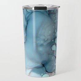 Becoming Abstract Painting Pink Blue Travel Mug