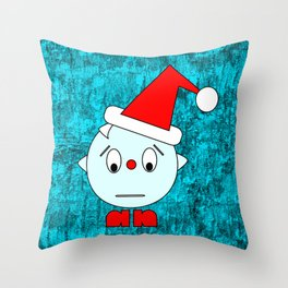 Funny Emotionless Head Throw Pillow