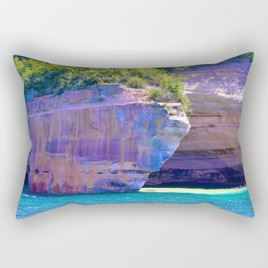 Michigan's Pictured Rocks Rectangular Pillow
