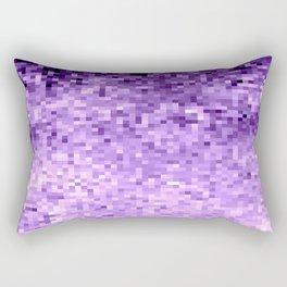 LavendeR Purple Pixels Rectangular Pillow