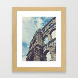 Pula Amphitheater Arena Framed Art Print