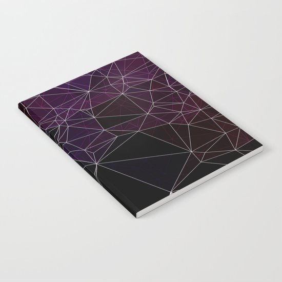 Polygonal purple, black and white Notebook