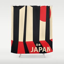 Japan vintage travel poster Shower Curtain