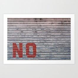 Abstract Corrugated Metal Texture - No Art Print