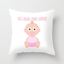 A Baby Girls's Job! Throw Pillow