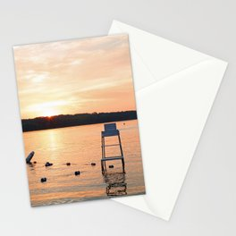 Summer Sunset Over Lake Stationery Cards