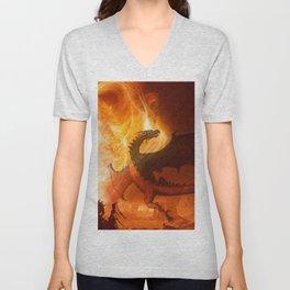 Dragon's world Unisex V-Neck