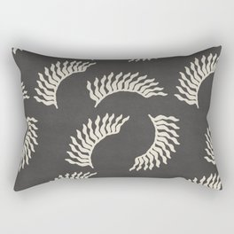 When the leaves become wings - Gray and beige Rectangular Pillow