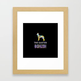 Borzoi gifts | Easter gifts | Easter decorations | Easter Bunny | Spring decor Framed Art Print