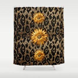 Animal Print Cheetah Triple Gold Shower Curtain