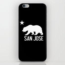San Jose and California Bear iPhone Skin