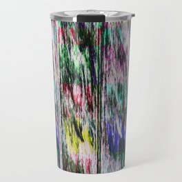Patchwork color gradient and texture 3 Travel Mug