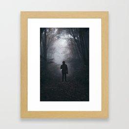 Halloween Figure in the Dark (Color) Framed Art Print