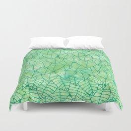 Green foliage Duvet Cover