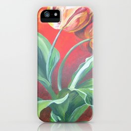 Red and Yellow Tulips iPhone Case