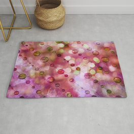 Cryptic fancy light in vibrant colors Rug