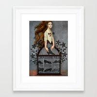 cinderella Framed Art Prints featuring Cinderella by Catrin Welz-Stein