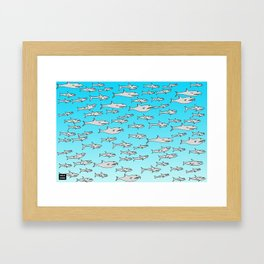 Tiburoncillos Framed Art Print