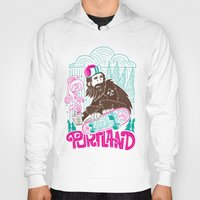 sasquatch Hoodies featuring Portland Sasquatch  by tim weakland