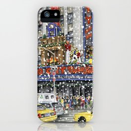 NY at Christmas iPhone Case