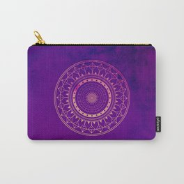 Pink & Purple Watercolor Mandala Carry-All Pouch