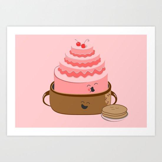 How Pancake Started Art Print