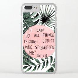 Philippians 4:13 Clear iPhone Case