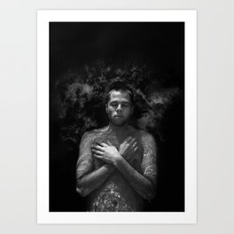 Untitled - Milk and Water  Human Series Art Print