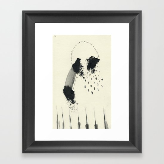 The Seduction of Memory and the Distraction of Anticipation Framed Art Print