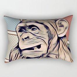 Impressive Animal - Young Pop Art Chimp Rectangular Pillow