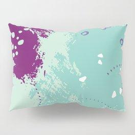 Mint viole strokes Pillow Sham