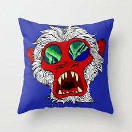 """Arctic Monkey"" by Virginia McCarthy Throw Pillow"