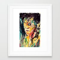 the strokes Framed Art Prints featuring Strokes by Jason Ngai