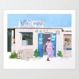 Somone Art Print