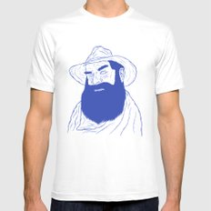 Cowboy  MEDIUM White Mens Fitted Tee