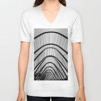 contemporary V-neck T-shirts featuring Contemporary Agora by Alfani Photography