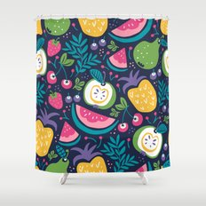 Hello Fruity Shower Curtain