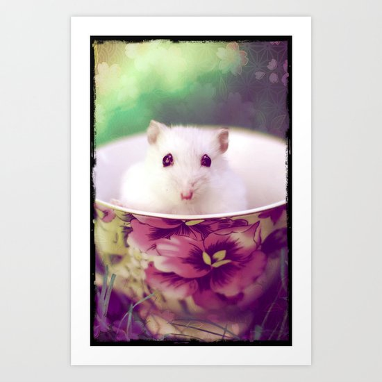 WHITE MOUSE - FOR IPHONE Art Print