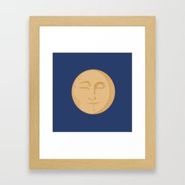 Vintage Moon Framed Art Print