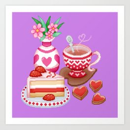 Cup of Love Art Print