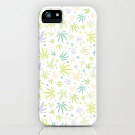 Cute Pastel Cannabis Pattern iPhone Case