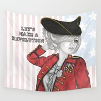 revolution Wall Tapestries featuring American Revolution by Sara Elan Donati