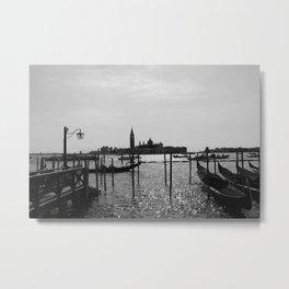 Venice Silhouette Metal Print