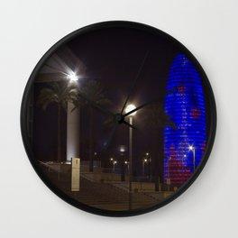 AGBAR Tower, Barcelona. Wall Clock