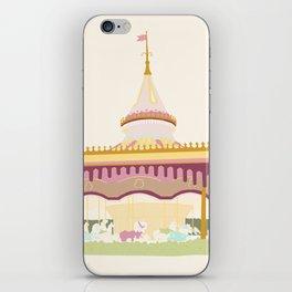 Carousel 2 - cream background iPhone Skin