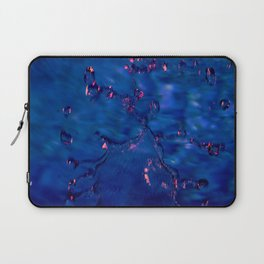 Dark Blue Waters with Hints of Pink Laptop Sleeve