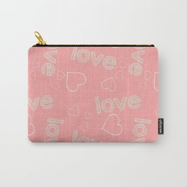 pink love pattern Carry-All Pouch